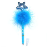 Feather Fluffy Ballpoint Pen with the Star Topper