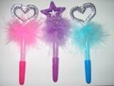 BBT-BBFF Feather Bubble Bubble Pen with the Heart or Star Topper