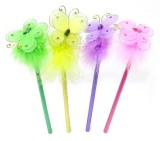 BBT-F001 Pencil with the Butterfly Fluffy Topper