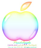My Drawing ~ Rainbow PeachApple