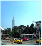 The view from my dwelling towards Taipei 101 Tower