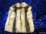 Fur on Silk Scarf