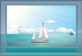 Dophin Crab and Sailing Boat