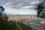 View from montjüic to Barcelona