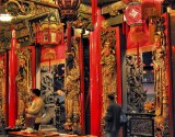 red colours in a temple