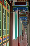 colourful corridor in a temple