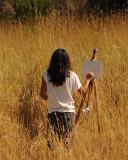 Artist In Grass