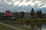 Pond and Gazebo - Interesting Sky