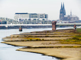 River Rhine Low Level in Cologne