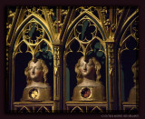 Relic Busts of the Klarenaltar in Cologne Cathedral