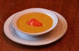 Curried ginger carrot soup