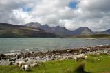 Bia Bheinn range from Camas Malag with Loch Slapin between