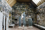 part of Celtic cross collection in Keills Chapel