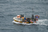 fishing boat in the swell