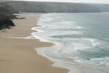 Porthtowan and Chapel Porth beaches from St Agnes Head, low tide