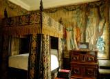 a bedroom; rather fine bit of tapestry