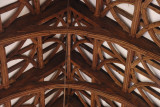 detail of roof timber