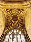 C16th fan vaulting in tower of St Andrew's church