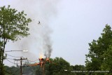 Utility Pole Fire / Anderson Ave / Milford CT / July 2012