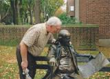 Dad and Ben Franklin  both old newspaper men.jpg