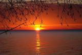 Colourful sunset over a lake