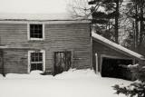 Old Barn in Light Snowfall