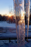 Sunrise from Behind the Giant Icicle