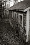 Old Garage and Step Ladder