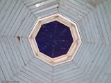 Vackert tak i lusthuset.
