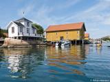 Bruces tillhåll på Hjärterön, badhuset byggdes 1895 för att sillpatron skulle kunna bada med utsikt...