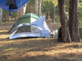 Evas tält är på gång att tas ner