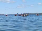 På Asköfjärden paddlade vi i svag medvind