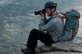 Vår landbaserade actionfotograf som cyklade runt stan & plåtade oss