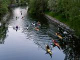 Spegelblankt i Karlbergskanalen