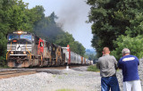 Henry and Gary shooting the NS 143 near Palm KY