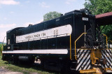 Baldwin #1200  on the mainline in the Clearfield yard