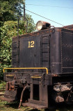 Rear of #12's tender..notice the fire hook still sitting on the deck