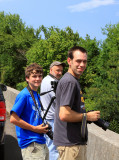 Peyton, Butch and Jacob waiting on SR 630 in TN