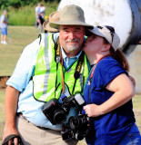 Carmon gives Smeds a smooch at the NS Heritage shindig in NC