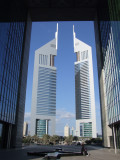 Emirates Towers view from DFM Dubai.JPG