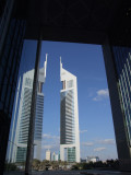 Emirates Towers Mirror Reflection DIFC Dubai.JPG