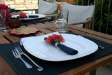 Our Terrace ready for a dinner party