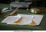 073  Desk Papers At Independence Hall.JPG