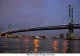 077  Ben Franklin Bridge At Dusk.JPG