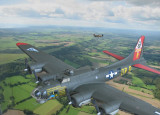 B17 model photoshopped with real Spitfire over West Sussex.jpg