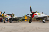 Flight preperations, and comparative sizes of P-51 and  P-47