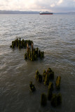 Old Pilings and Ship, Astoria, Oregon