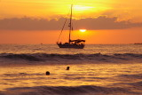 Manuel Antonio Beach Sailboat Sunset