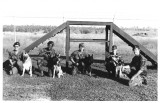 Handlers and Dogs in Training area-2