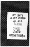 Two language Danger sign